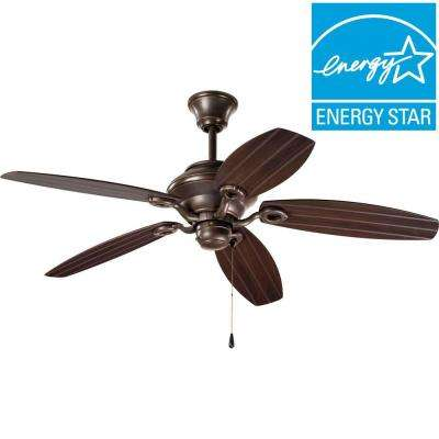 AirPro 54 in. Indoor or Outdoor Antique Bronze Rustic Ceiling Fan