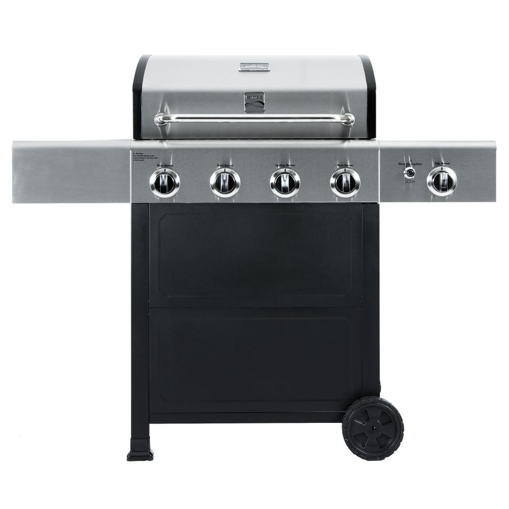 Kenmore 4 Burner Propane Gas Grill in Black and Stainless...