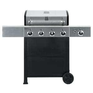 Click here to buy KENMORE 4 Burner Propane Gas Grill in Black and Stainless Steel with Side Burner by KENMORE.