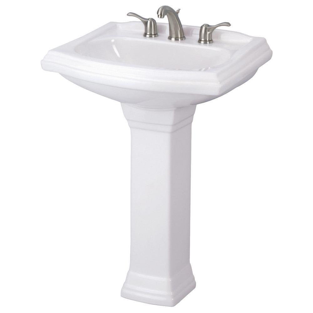 Gerber Allerton Pedestal Combo Bathroom Sink in White