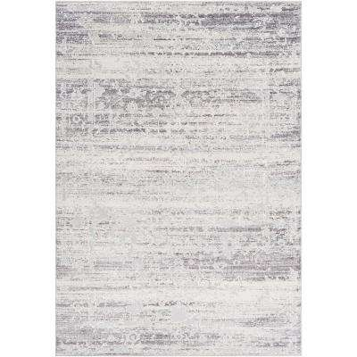 Sabri Silver 3 ft. 11 in. x 5 ft. 7 in. Distressed Area Rug