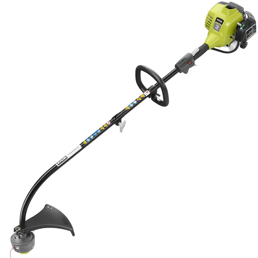 Ryobi 25cc 2 Cycle Attachment Capable Full Crank Curved Shaft Gas String Trimmer