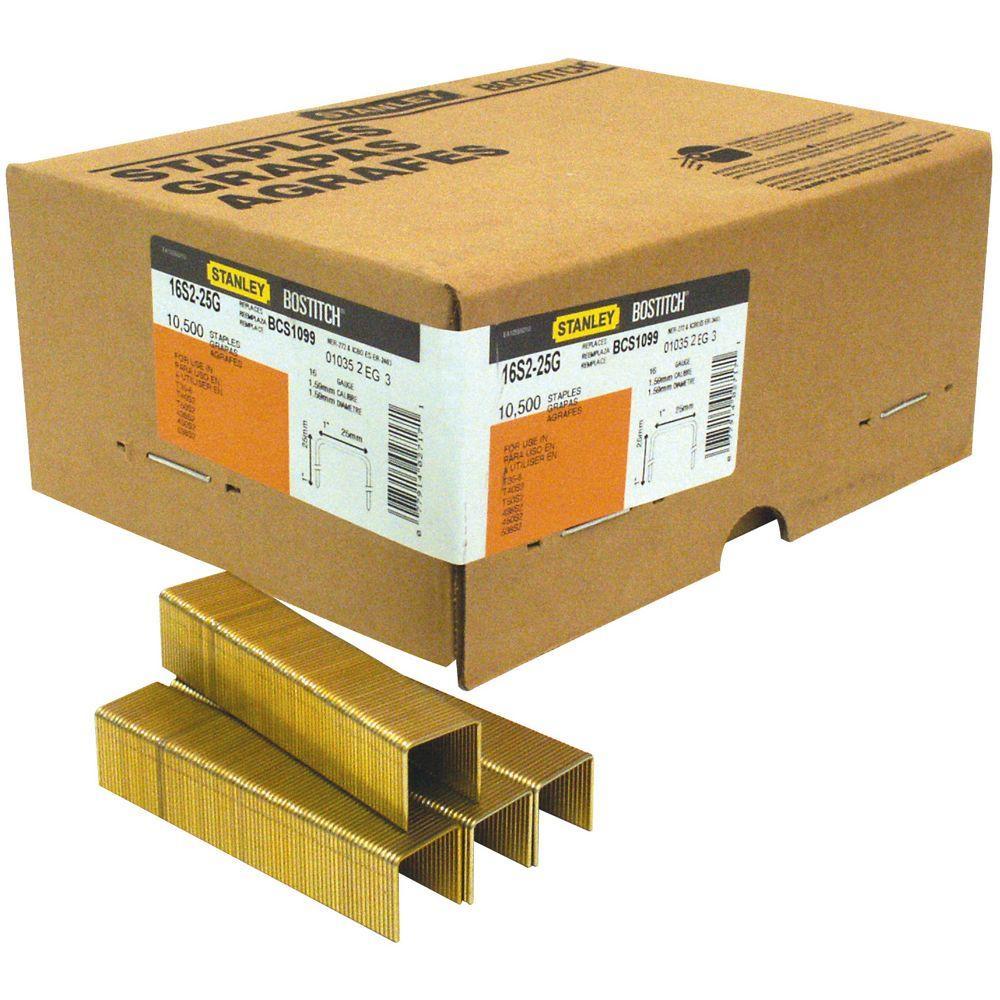 1-1/2 in. x 16-Gauge Glue Collated Galvanized Staple 2000 per Box