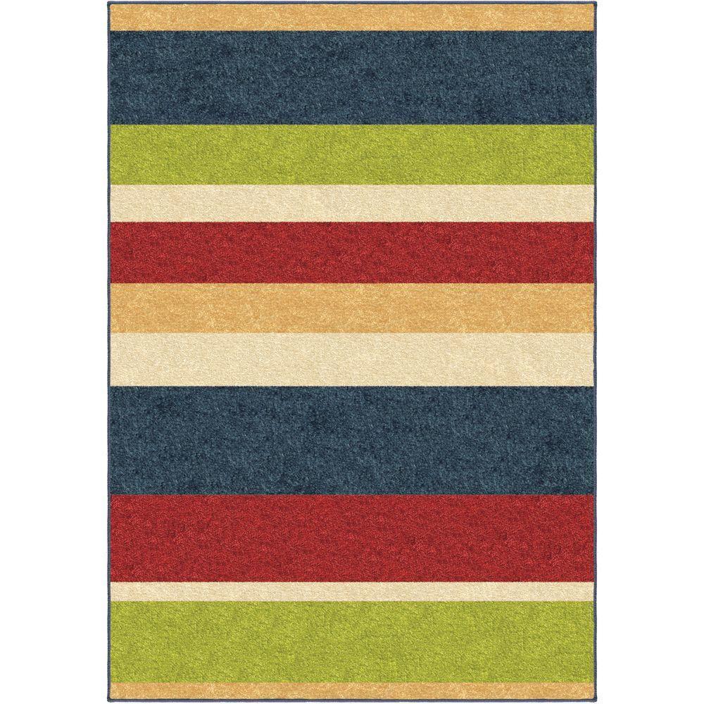 Orian Rugs Stripe it Multi 5 ft. 3 in. x 7 ft. 6 in. Indoor Area Rug