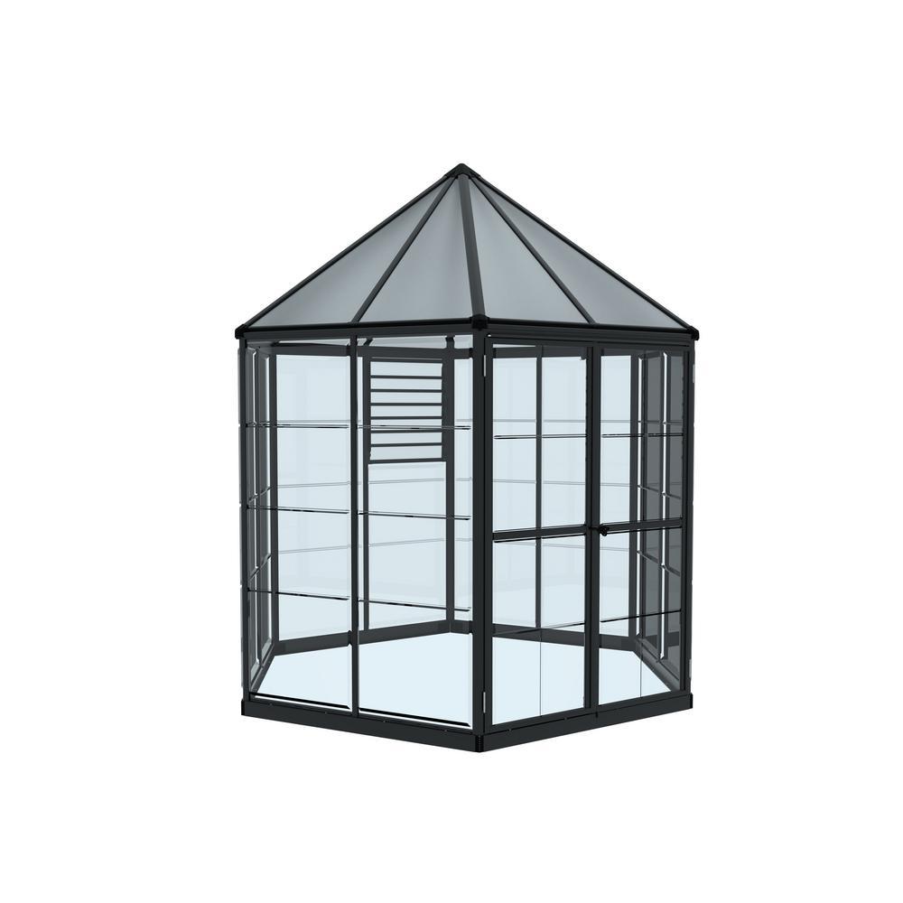 Palram 8 ft. x 7 ft. Oasis Hexagonal Greenhouse