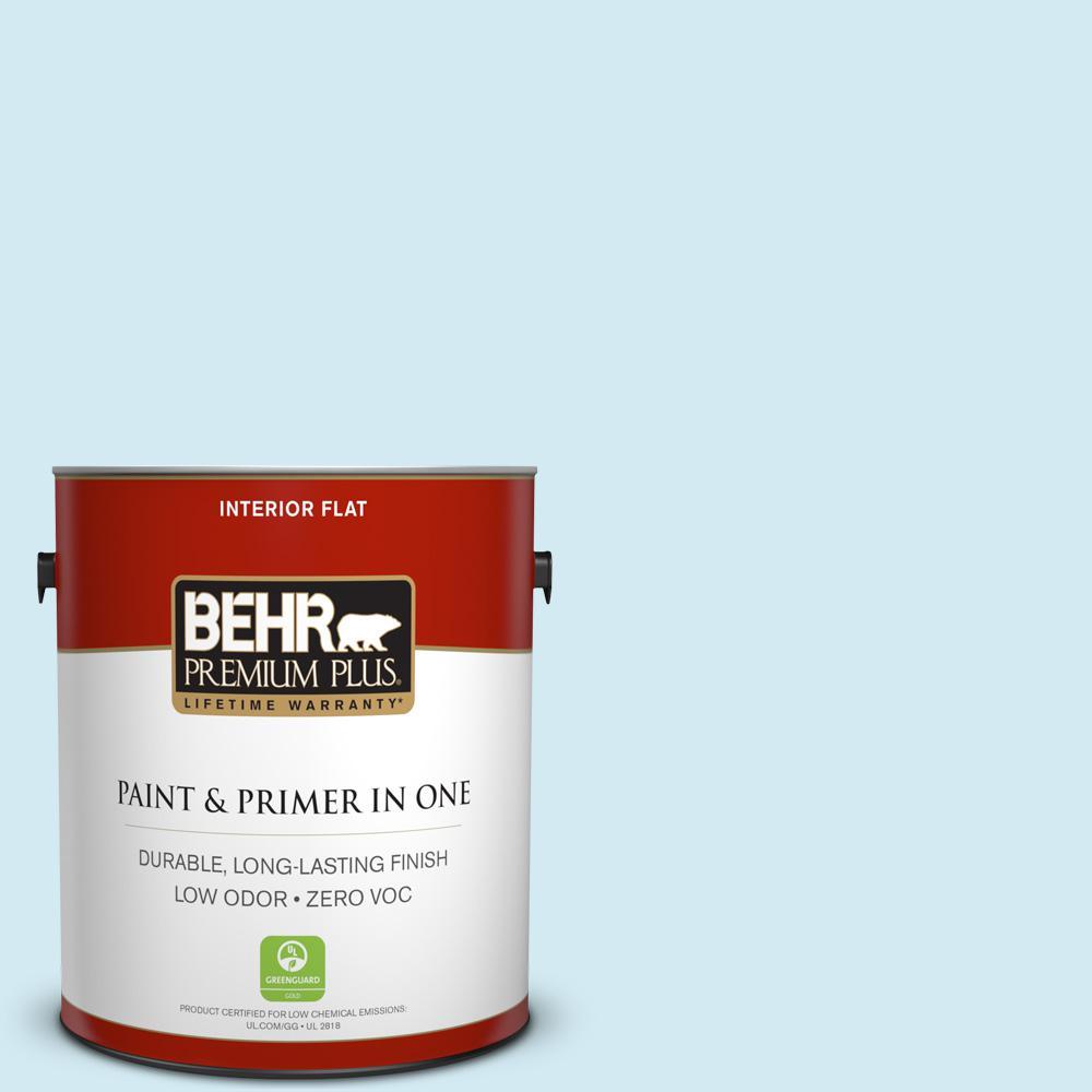 BEHR Premium Plus 1-gal. #P500-1 Spacious Skies Flat Interior Paint