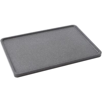 The Rock 18 in. Aluminum Nonstick Reversible Stovetop Griddle