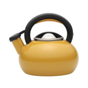 Click here to buy Circulon 6-Cup Mustard Yellow Sunrise Teakettle by Circulon.