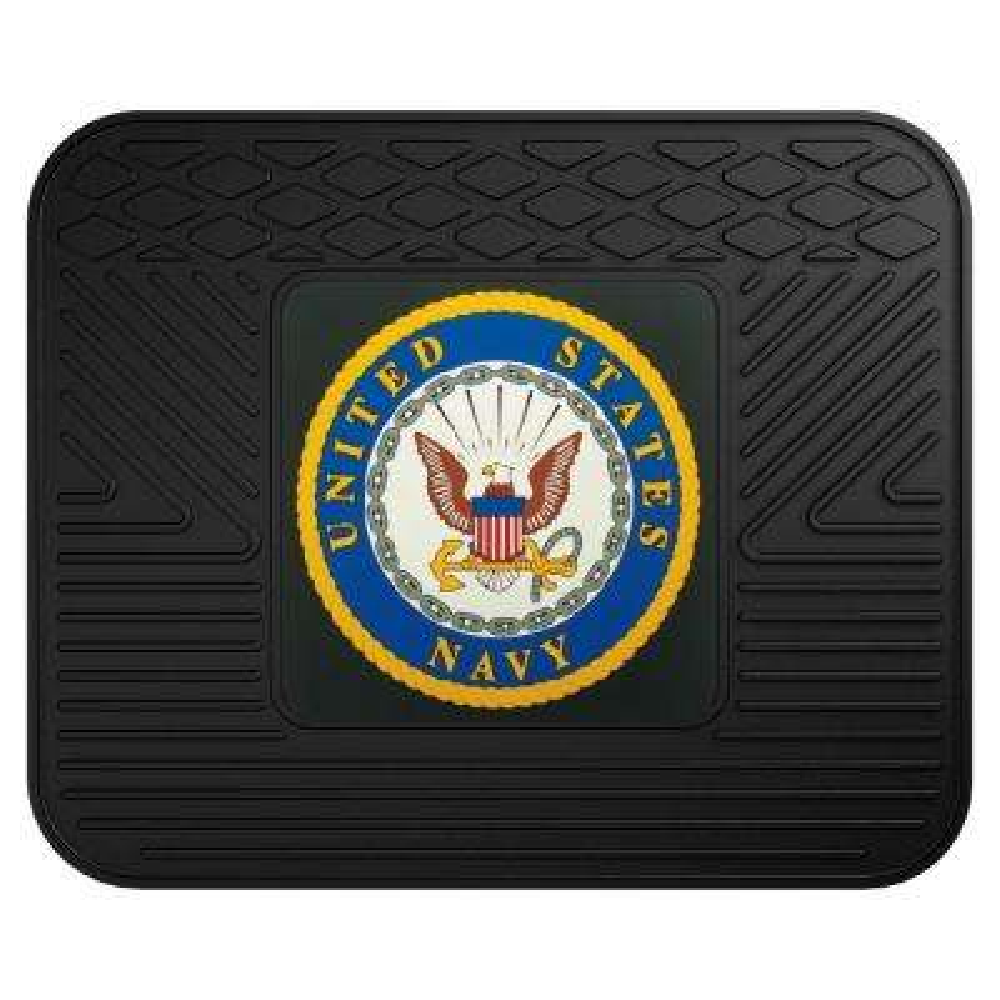 U.S. Navy Heavy-Duty 17 in. x 14 in. Vinyl Utility Car Mat