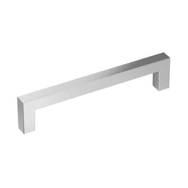 Monument 5-1/16 in (128 mm) Center-to-Center Polished Chrome Cabinet Drawer Pull