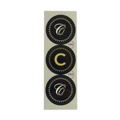 C Monogram Decorative Bathroom Sink Stopper Laminates (Set of 3)