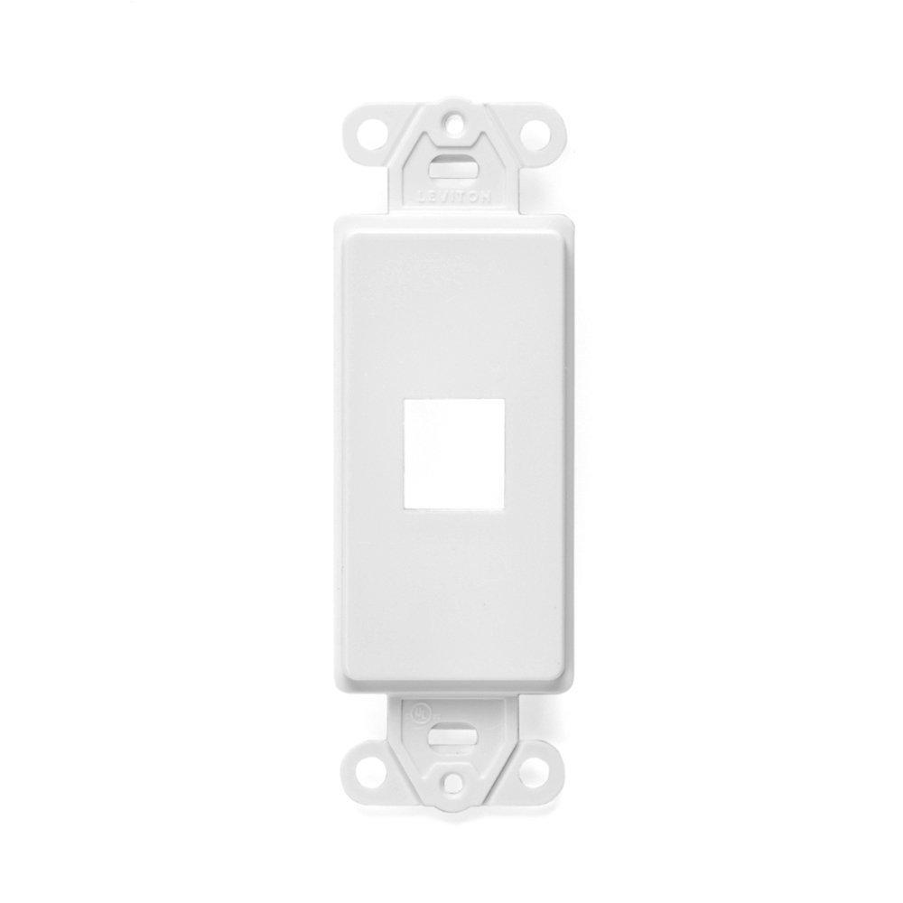 Leviton Decora Blank Insert White R52 80414 00w The Home Depot 15 Amp 4way Rocker Switch 1 Gang Quickport Port