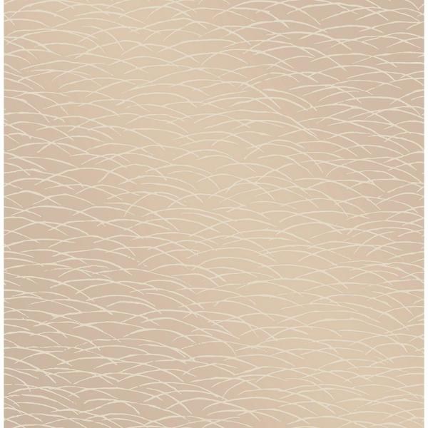 A-Street 56.4 sq. ft. Hono Beige Abstract Wave Wallpaper 2889-25243