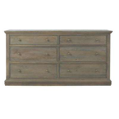 Aldridge 6-Drawer Antique Grey Dresser