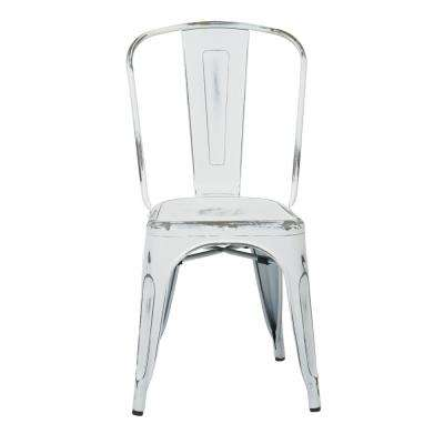 Bristow Antique White Metal Side Chair (Set of 4)