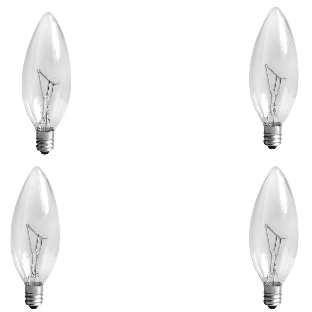GE 60-Watt Incandescent B10 Candelabra Base Double Life Multi-Use ...