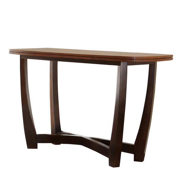 Undefined Kenzo 2 Tone Brown And Black Sofa Table
