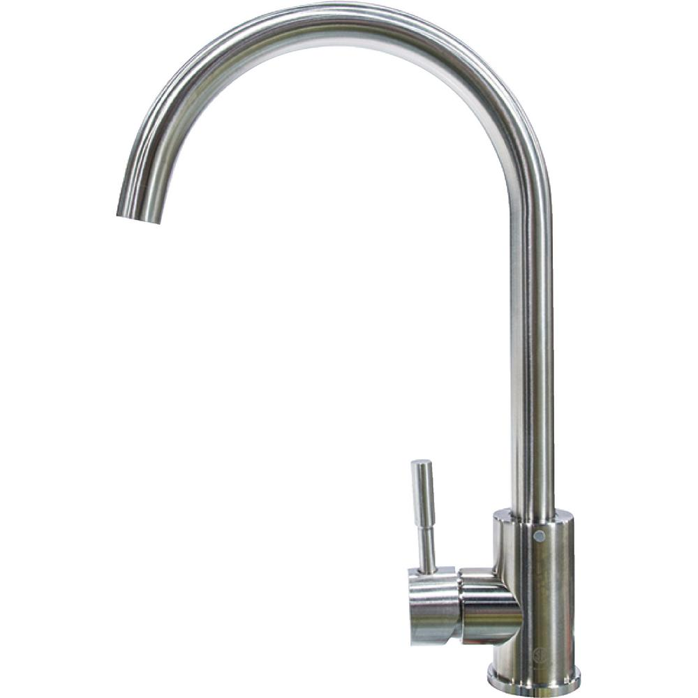 Lippert flow max rv kitchen faucet curved gooseneck shaped