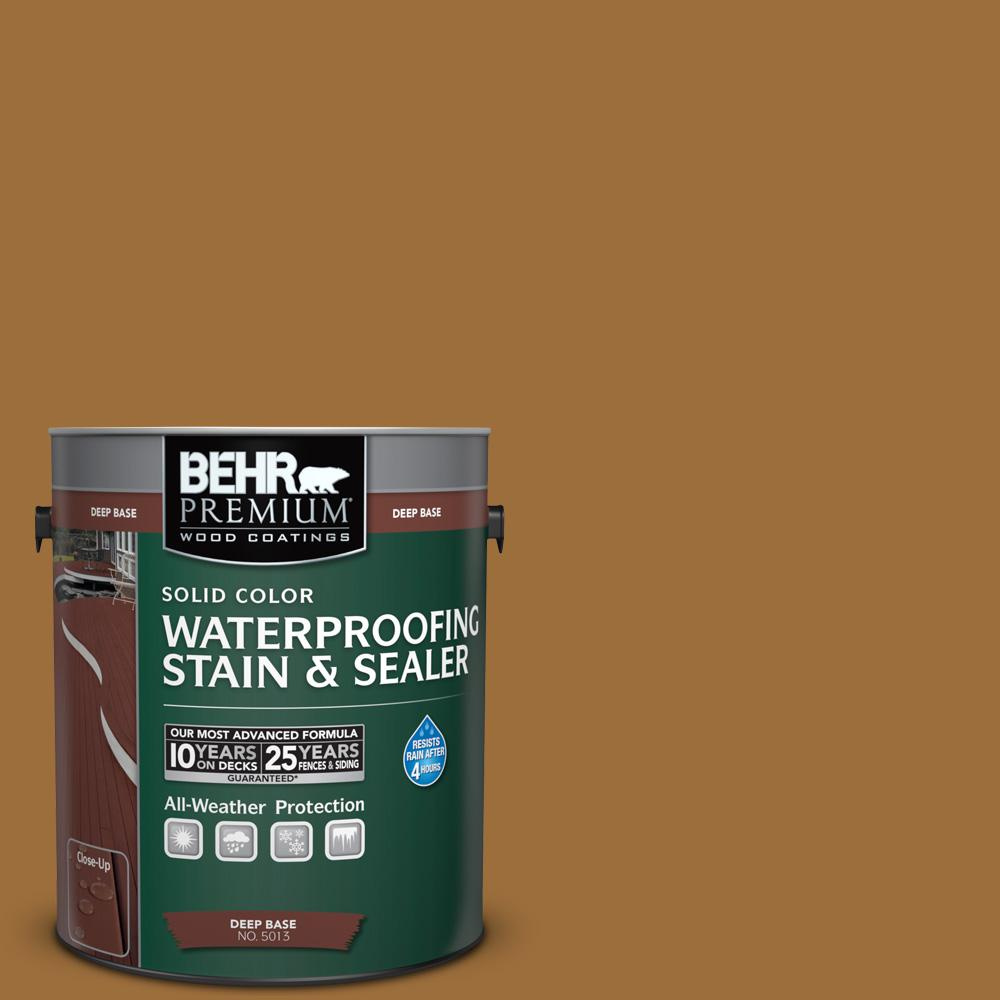 BEHR Premium 1 gal. #SC-146 Cedar Solid Color Waterproofing Stain and Sealer