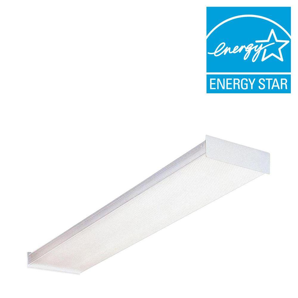 Lithonia Lighting Sb 2 32 120 Gesb 4 Ft Wraparound Fluorescent Ceiling Fixture