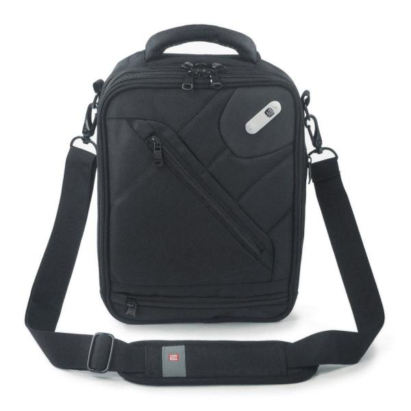 FUL Sidecar Shoulder Messenger Bag, Front 10in x 8.25in Tablet/E-reader Compartment, Black, Unisex