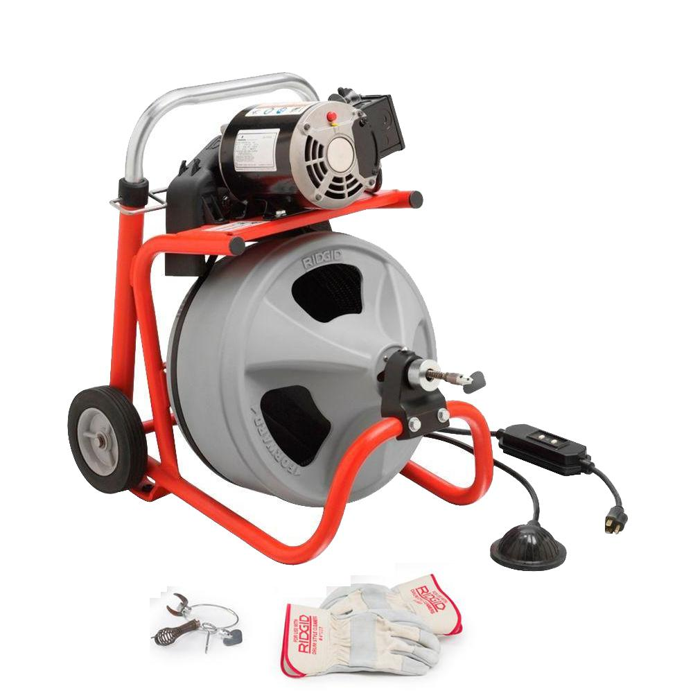 Ridgid 115 Volt K 400 Drum Machine With C 31 3 8 In
