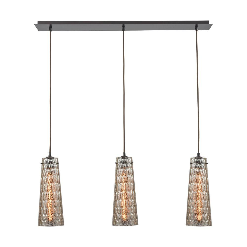 Titan Lighting Jerard 3-Light Linear Oil Rubbed Bronze Pendant