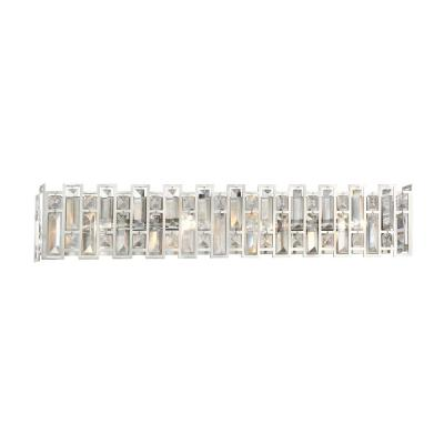 West 65th 4-Light Satin Platinum Interior Bath Vanity Light