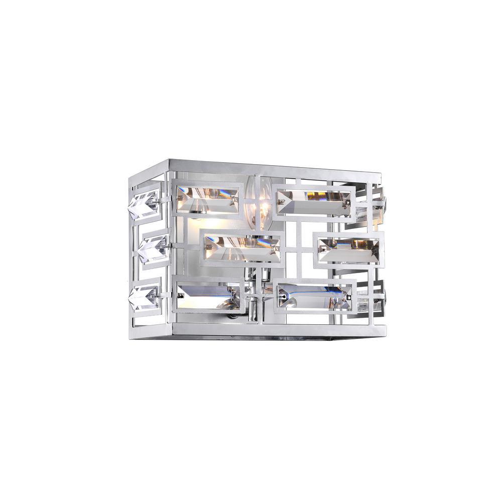 Petia 1-Light Chrome Sconce
