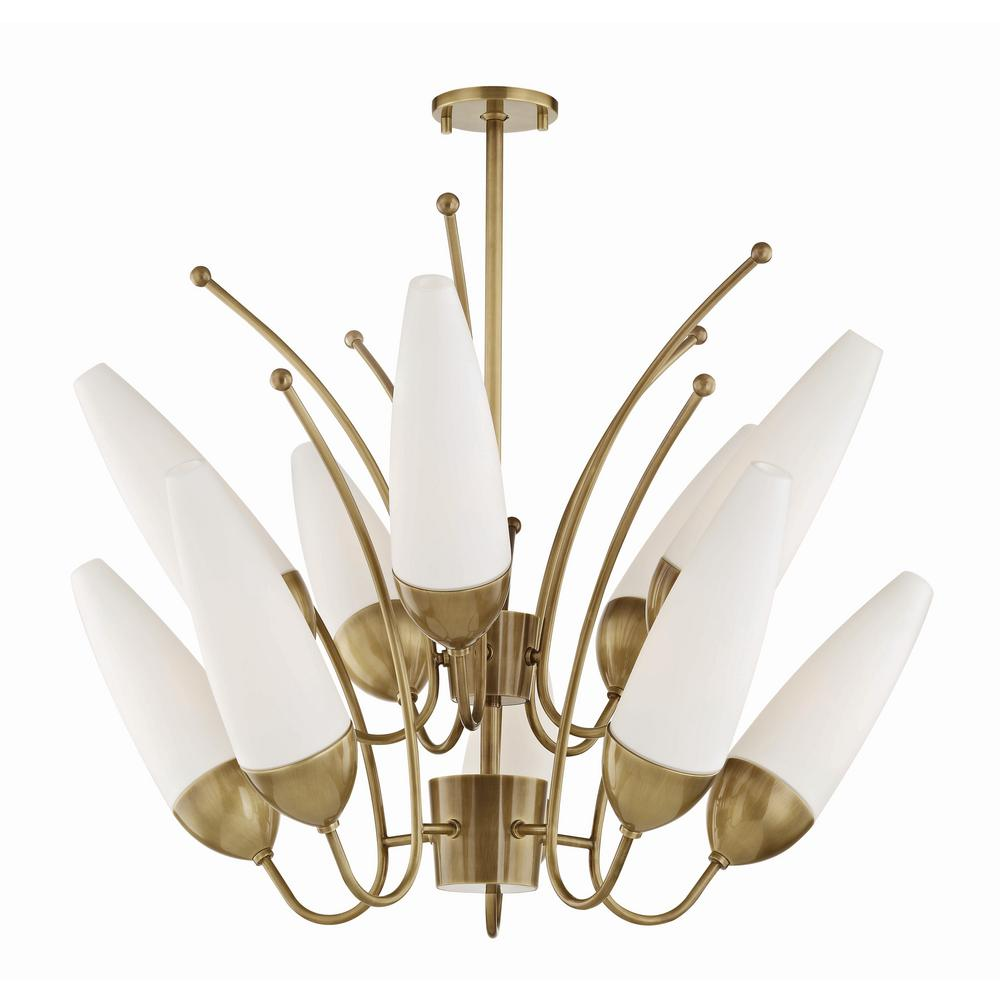 Mitzi by hudson valley lighting amee 10 light aged brass chandelier mitzi by hudson valley lighting amee 10 light aged brass chandelier with opal matte glass arubaitofo Choice Image