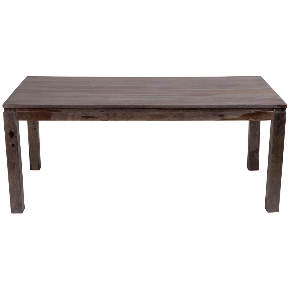 big sur contemporary solid sheesham wood dining table in gray wash 07 114 01 gs6 the home depot. Black Bedroom Furniture Sets. Home Design Ideas