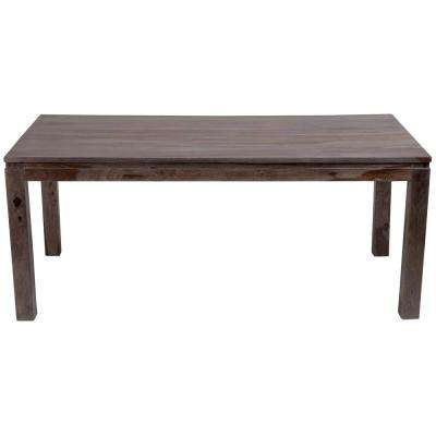 Big Sur Contemporary Solid Sheesham Wood Dining Table In Gray Wash