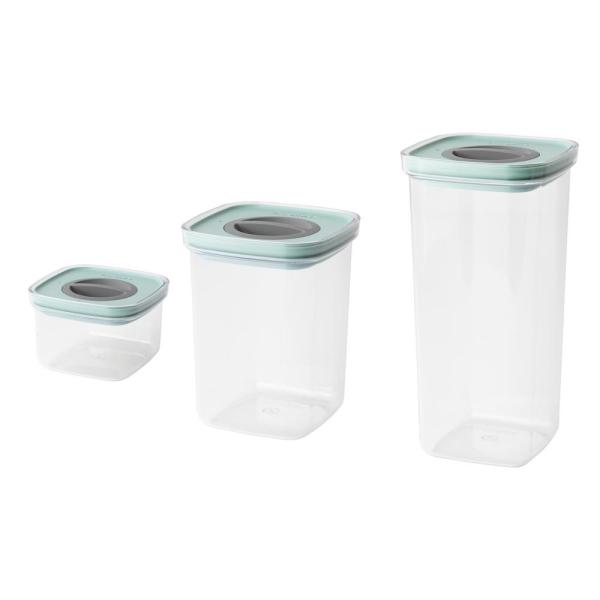 Leo 3 Piece Green Smart Seal Food Container Set