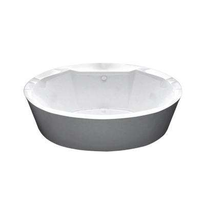 Sunstone 5.7 ft. Acrylic Flatbottom Air Bath Tub in White