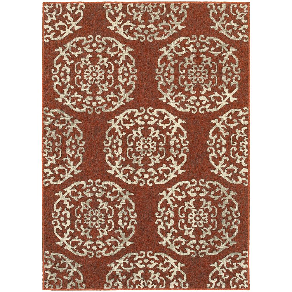 Home Decorators Collection Colonial Paprika 8 ft. x 11 ft. Area Rug