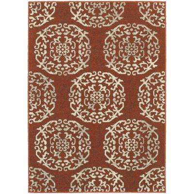 Colonial Paprika 8 ft. x 11 ft. Area Rug