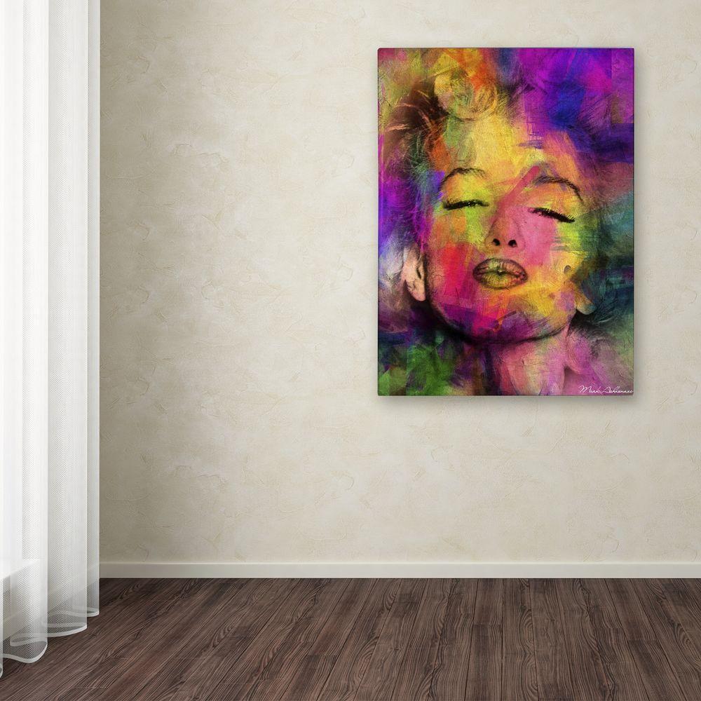 "24 in. x 18 in. ""Marilyn Monroe VI"" by Mark Ashkenazi Printed Canvas Wall Art"