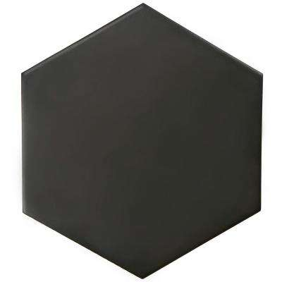 Hexatile Matte Nero 7 in. x 8 in. Porcelain Floor and Wall Tile (2.2 sq. ft. / Pack)
