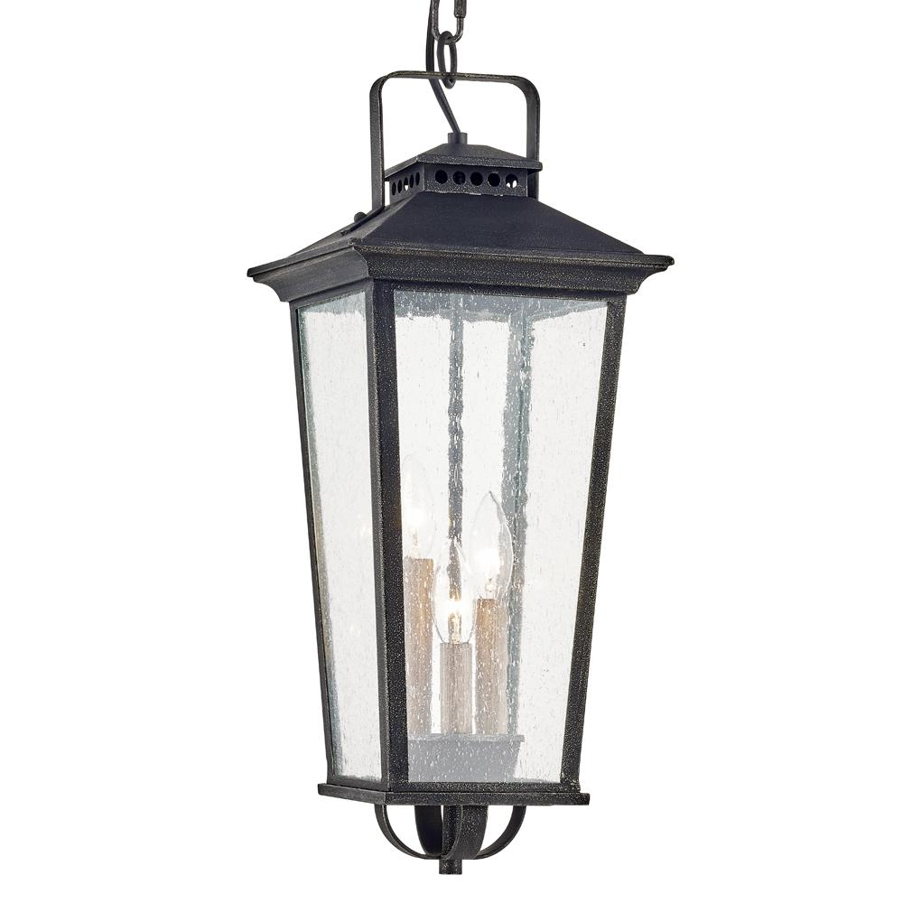FifthandMainLighting Fifth and Main Lighting Parsons Field Aged Pewter 3-Light Hanging Outdoor Pendant