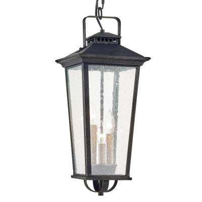 Parsons Field Aged Pewter 3-Light Hanging Outdoor Pendant