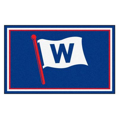 MLB - Chicago Cubs Blue 4 ft. x 6 ft. Area Rug