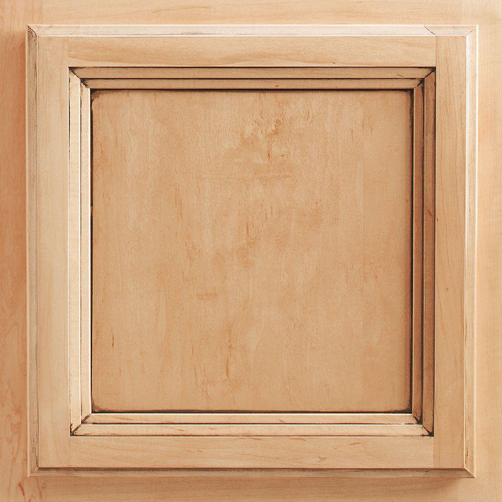 American Woodmark 13x12 7 8 In Cabinet Door Sample In Ashland Oak Honey 99916 The Home Depot