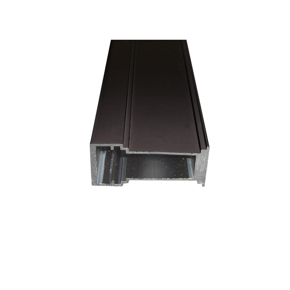 Ply Gem .75 in. x 59.25 in. 60 in. Bronze Mull Bar for Single Hung Aluminum Window - Bronze