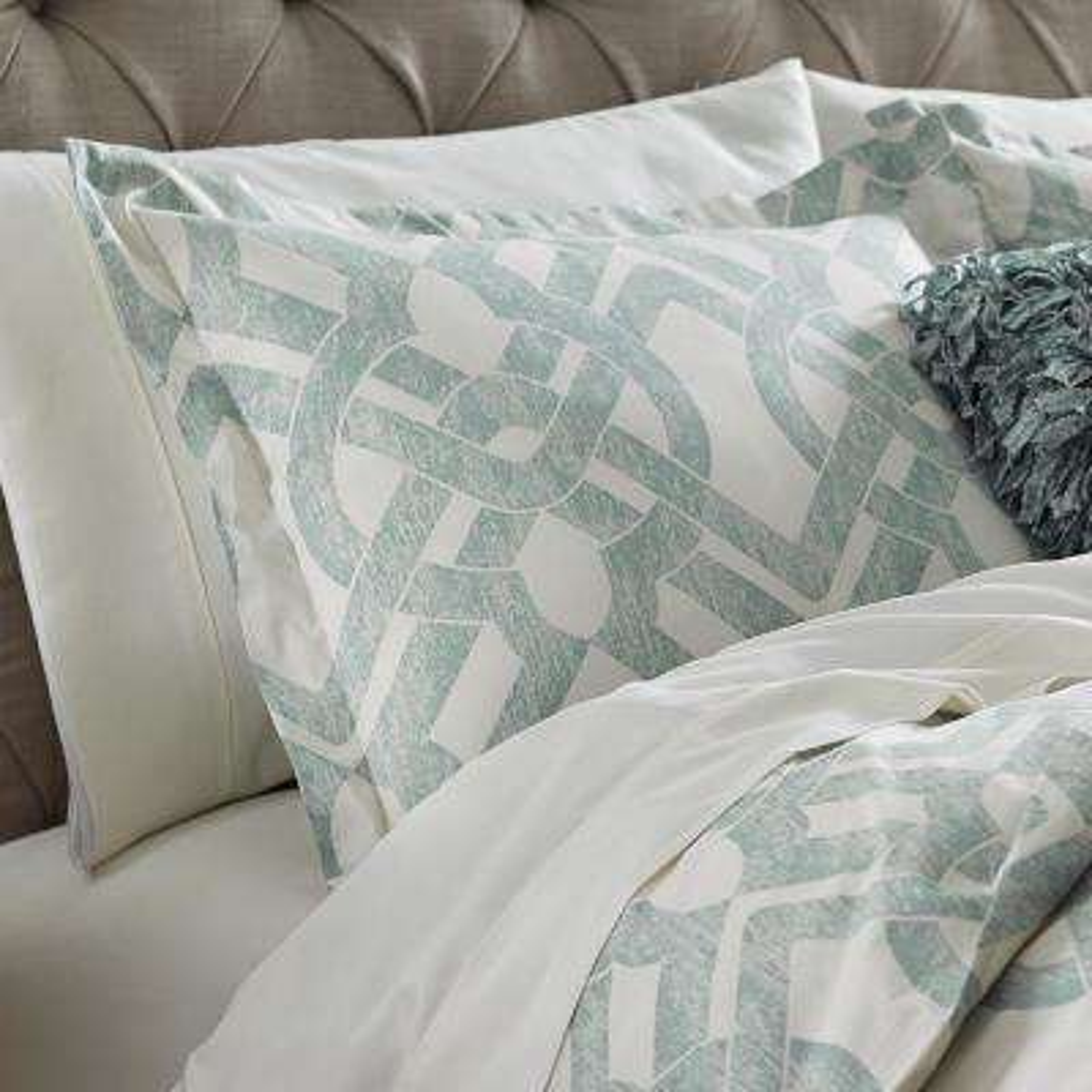 Waveland Green and Blue Euro Pillow Sham