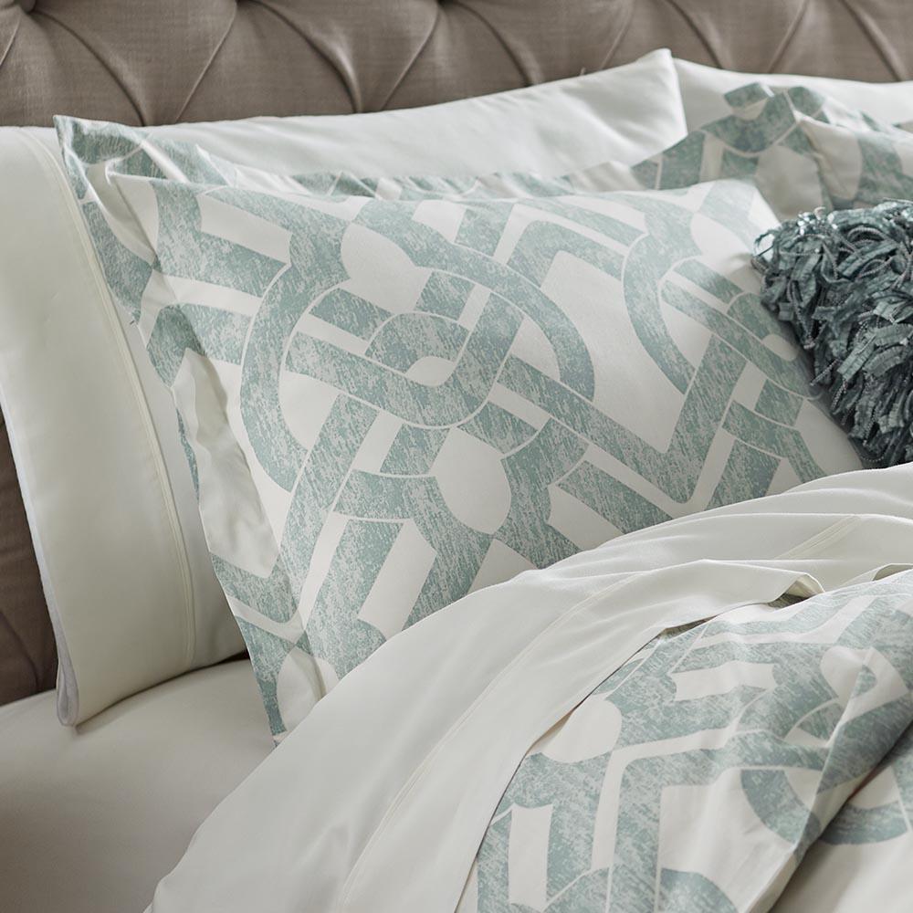 Waveland Green and Blue Standard Pillow Sham