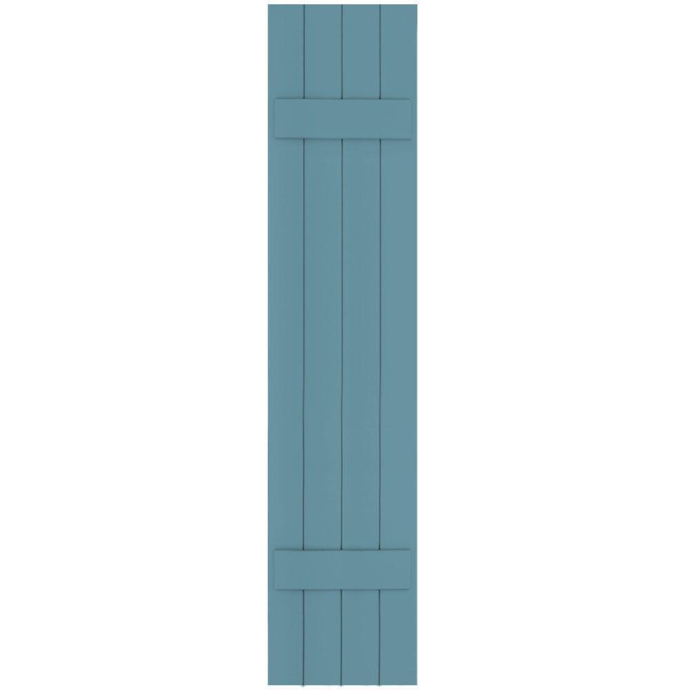 Winworks Wood Composite 15 in. x 71 in. Board and Batten Shutters Pair #645 Harbor