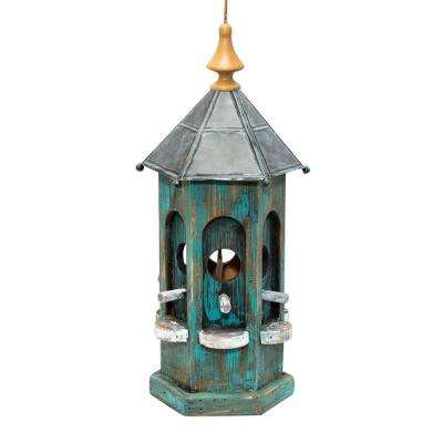 19 in. Tall Blue Artful House