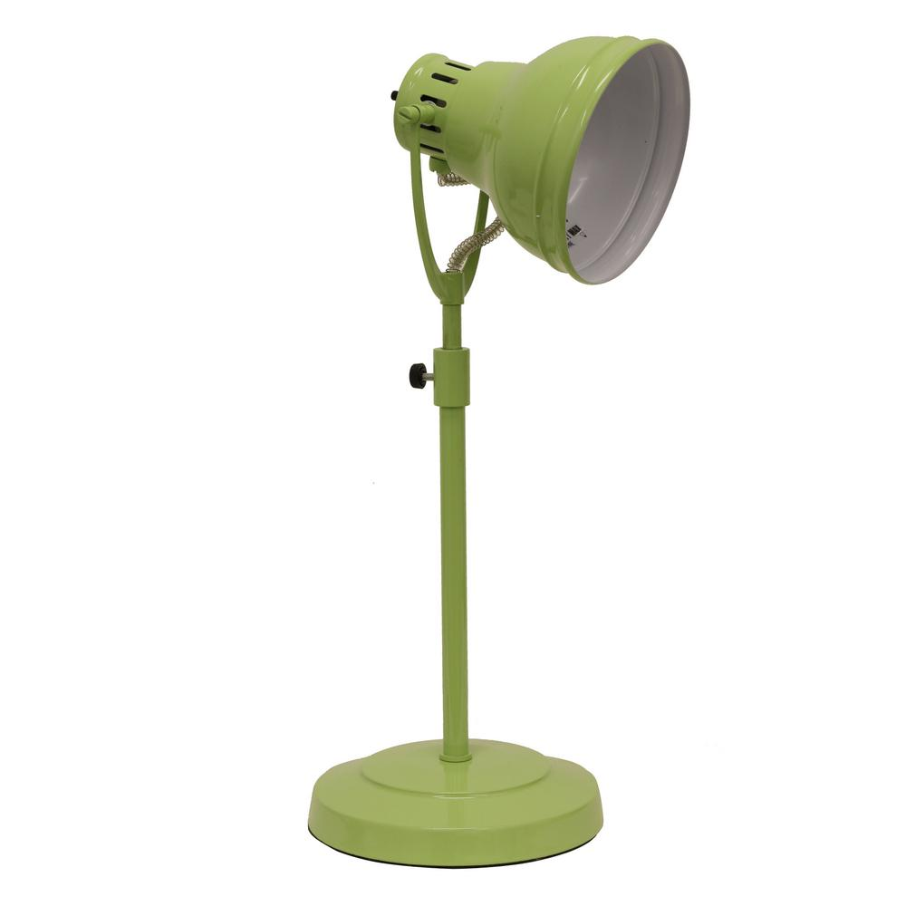 Decor Therapy Desk Task 21 in. Green Table Lamp with Meta...