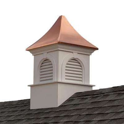 Smithsonian Newington 42 in. x 67 in. Vinyl Cupola with Copper Roof