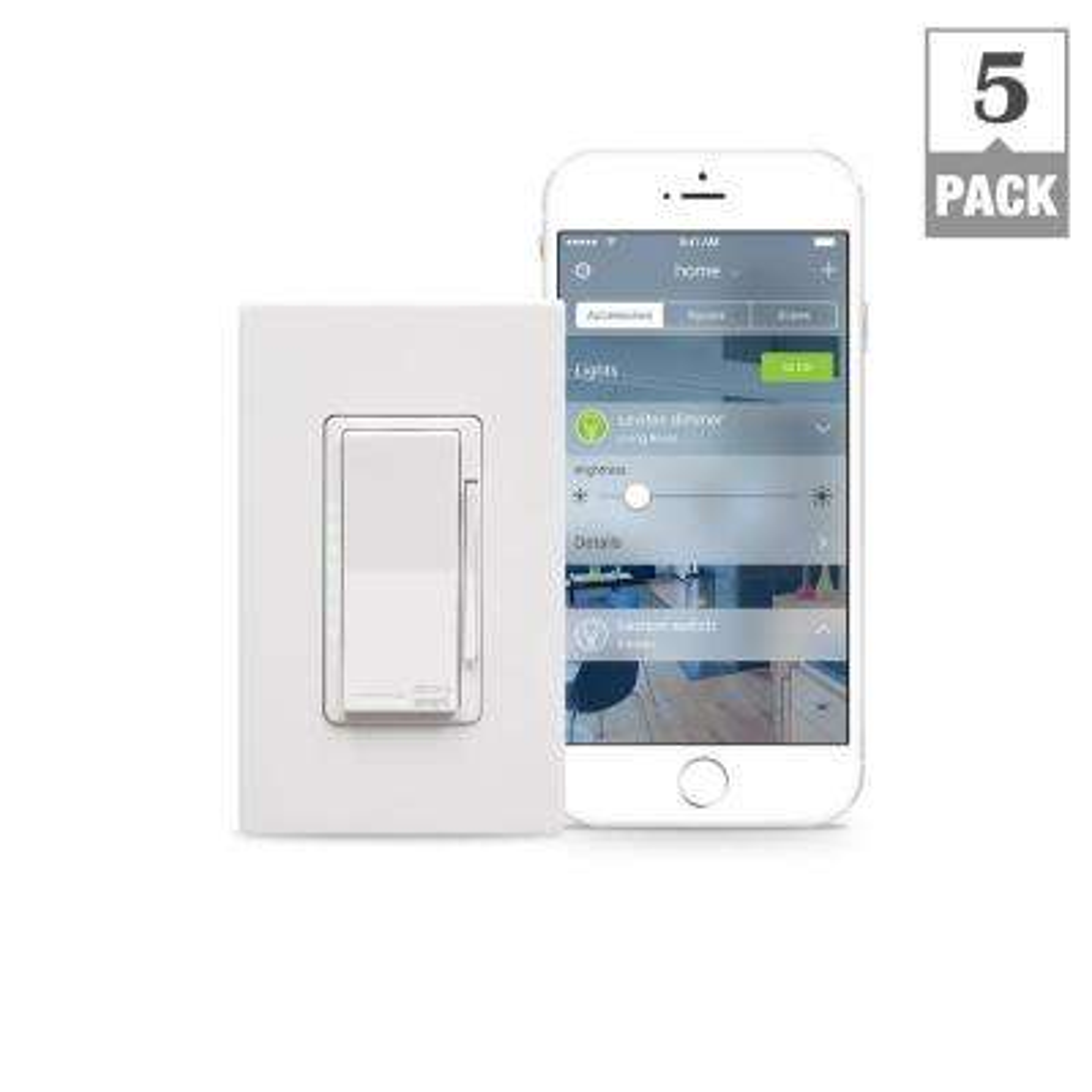 Decora Smart 600-Watt with HomeKit Technology Dimmer, Works with Siri (5-Pack)
